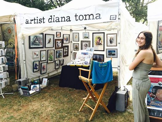 booth artist Diana Toma