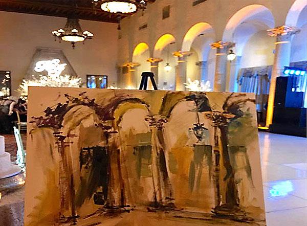 wedding painting artist Diana Toma